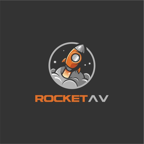 logo concept for  rocket av