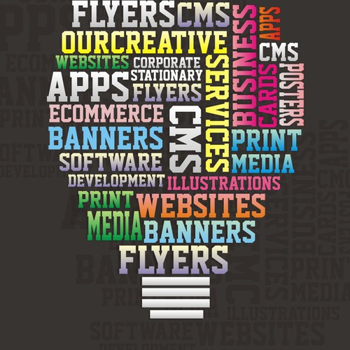 Promotional Poster offering creative services