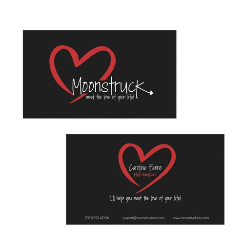 matchmaking website business cards