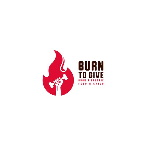 Logo concept for Burn To Give