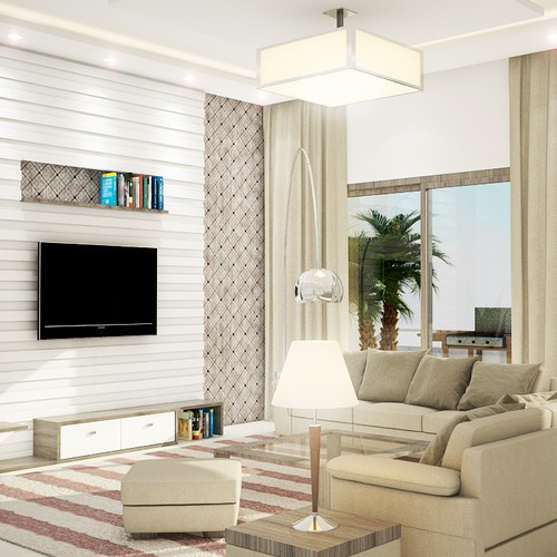 3d realistic interior for an appartment
