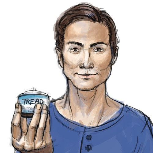 Illustrations for men face care products