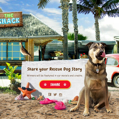Landing page for Rescue Dog Movies