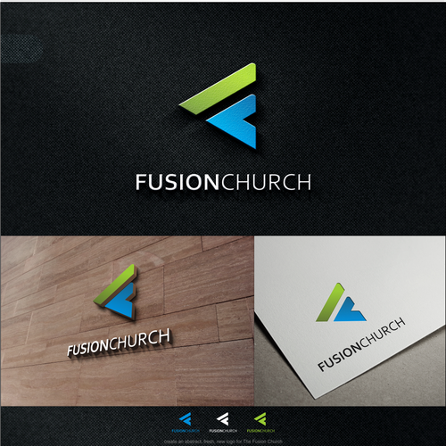 logo design concept for fusion church