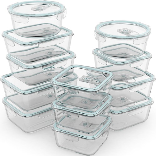 Amazon image for glass food containers.