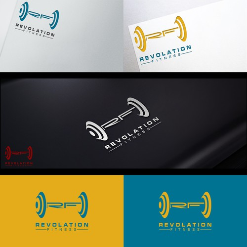 REVOLATION FITNESS logo design