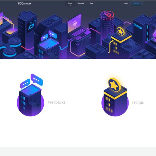 Isometric Digital Currency Town