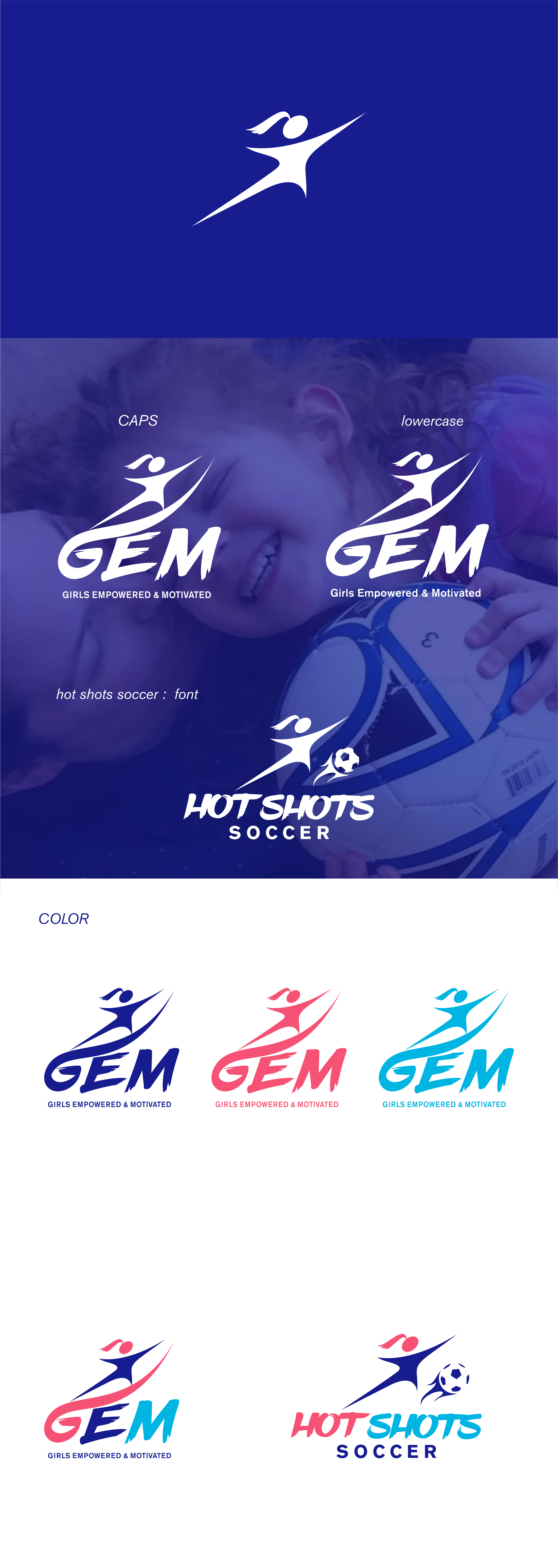 We build girls' self-esteem, love of reading, & athletic skills in creative setting (& need a logo)