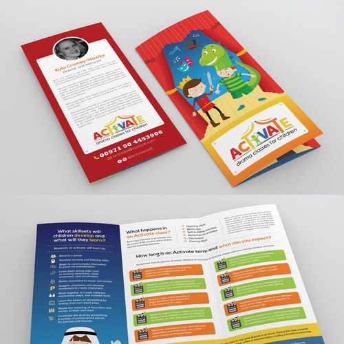 Brochure to promote new Drama classes for 4-7 year olds