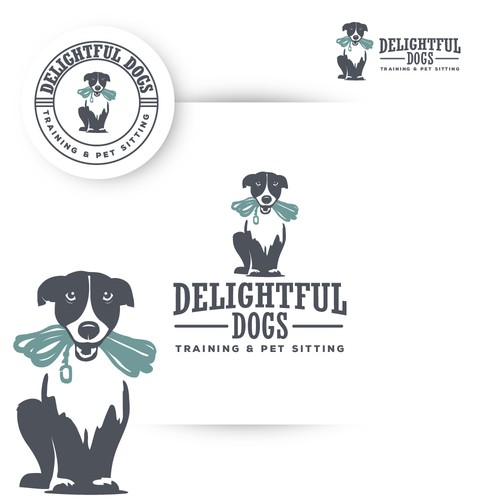 Logo design for the positive reinforcement clicker training and pet sitting, dog walking service.