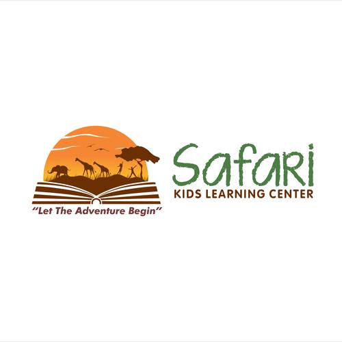 Create a safari themed logo for a kids learning center