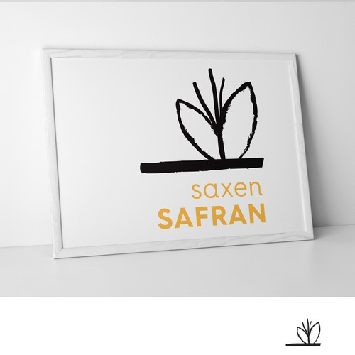 Saffron-Logo: Saffron-plantation and -products from Saxony in Germany (Briefing in engl. and german)