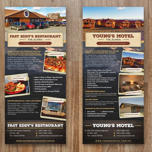 Rack Card for Fast Eddy's Restaurant and Young's Motel