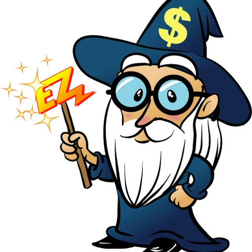 Accountant wizard mascot