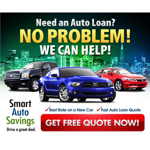 banner ad for Create a New Banner for a Unique Auto Finance Company
