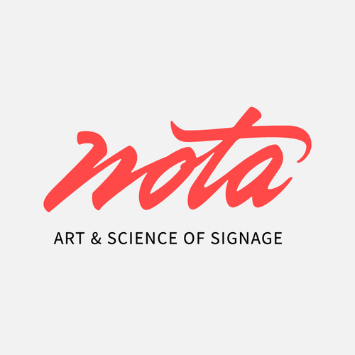 Handwritten wordmark for a signage company