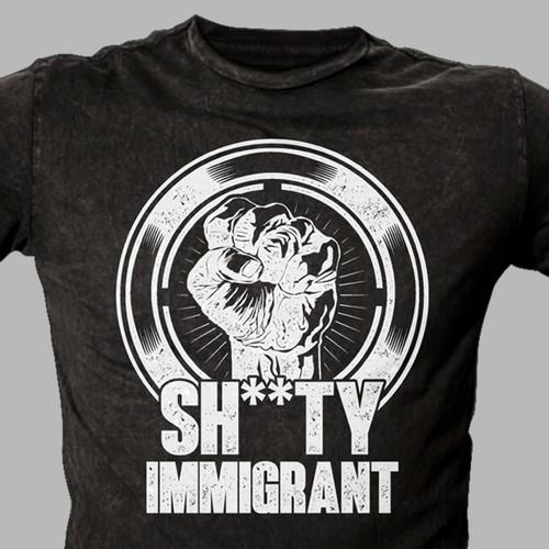 Pro-Immigrant T-shirt Design Pun on Sh*thole Countries