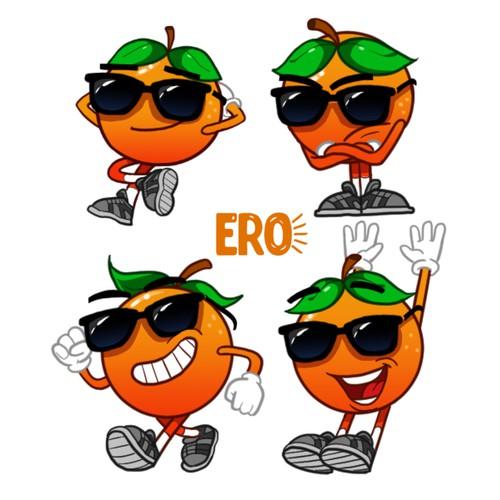 Orange flavor character for ERO