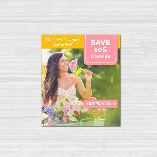 Summer email banners for floral delivery