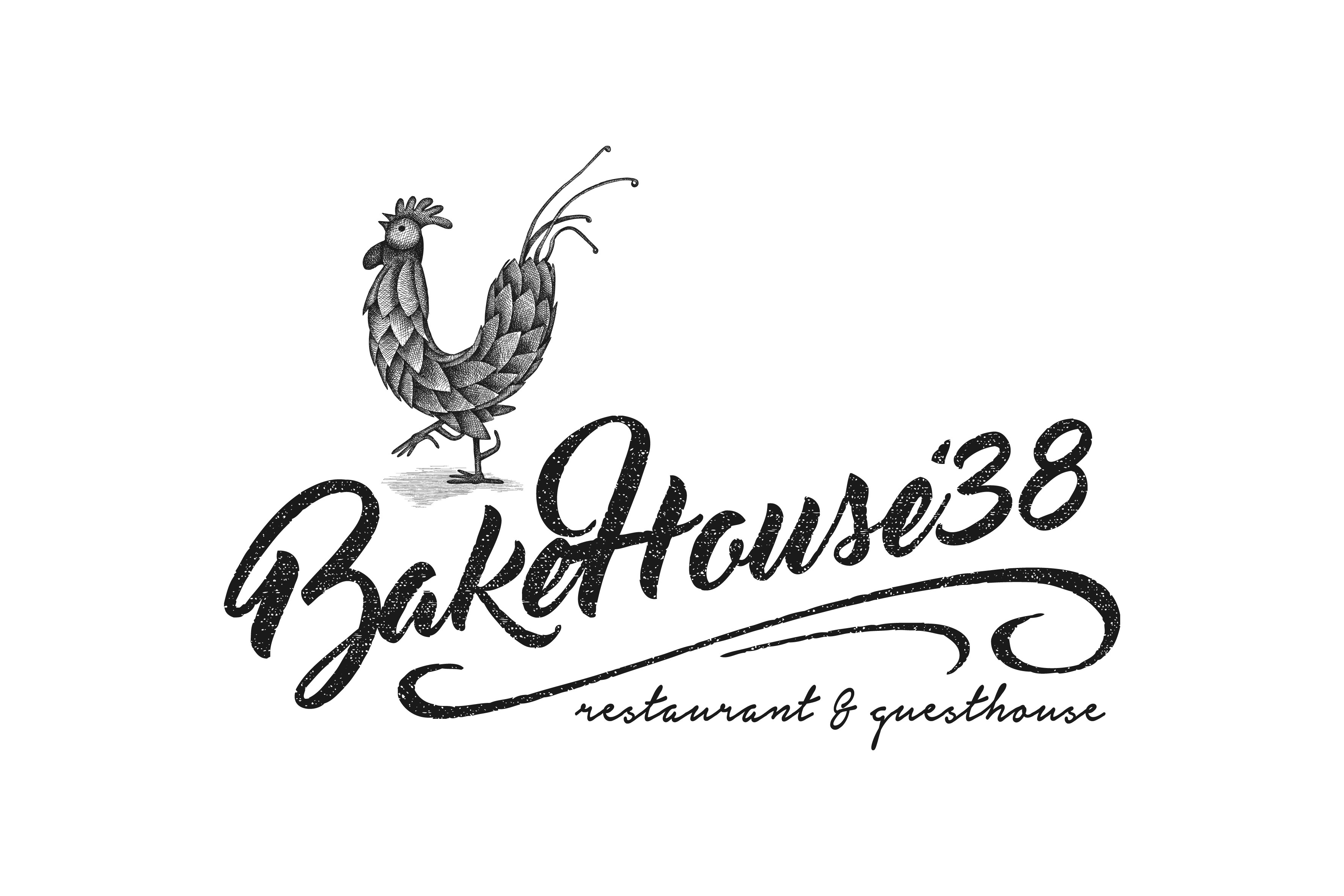 Create an inviting modern rustic logo for our woodfired bakehouse est 1938