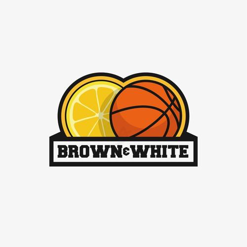brown & white basketball concept