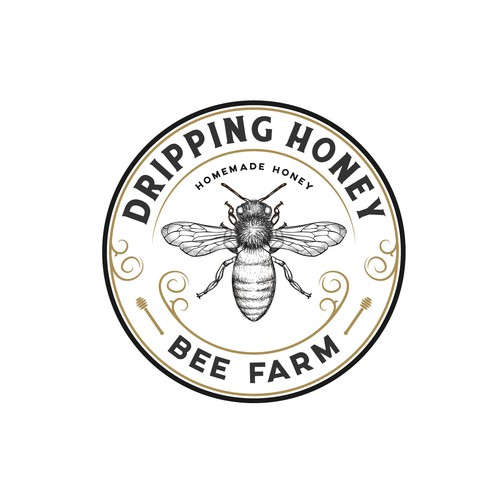 Logo for the bee farm