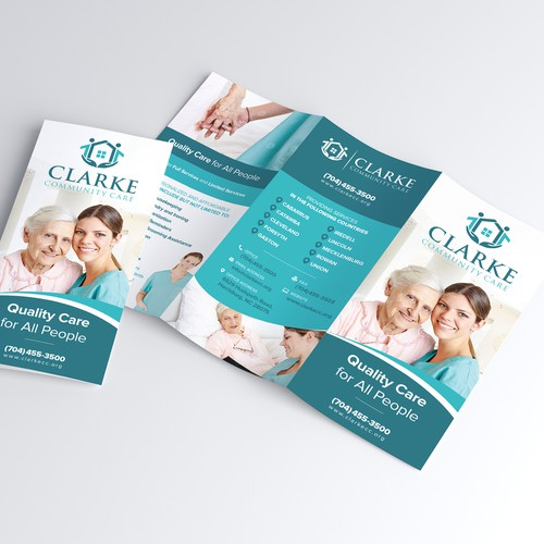 Beautiful Trifold design for Care Giving Company