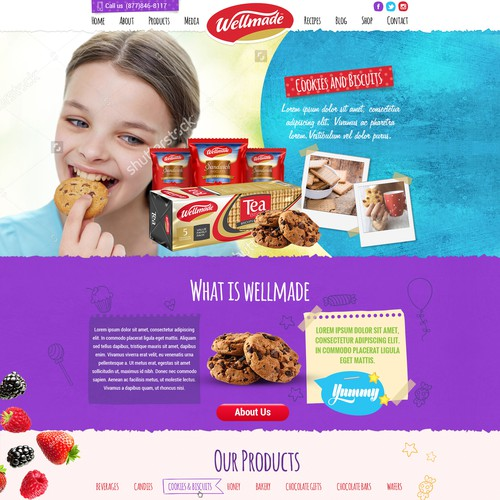 Wellmade food and candies web site