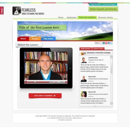 Fearless - an online training course needs a new website design