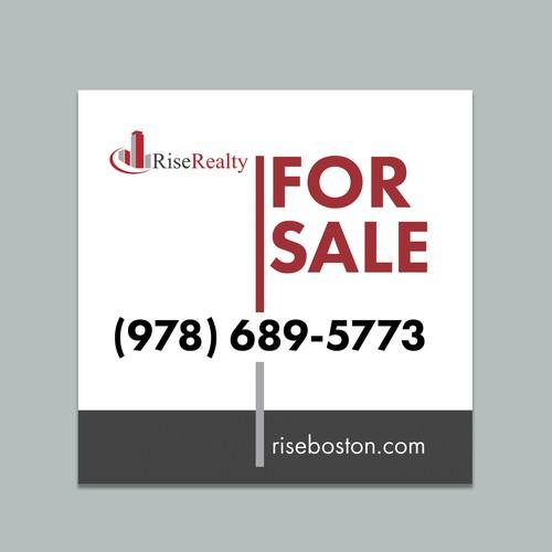"""Modern Real-Estate Brokerage needs """"For Sale"""" yard sign"""