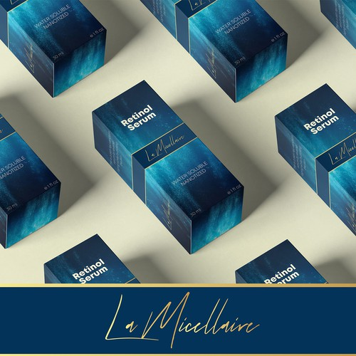 Cosmetic and Beauty Cream Box Packaging Design