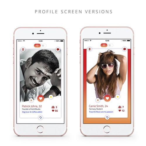 Profile screen proposal for social app