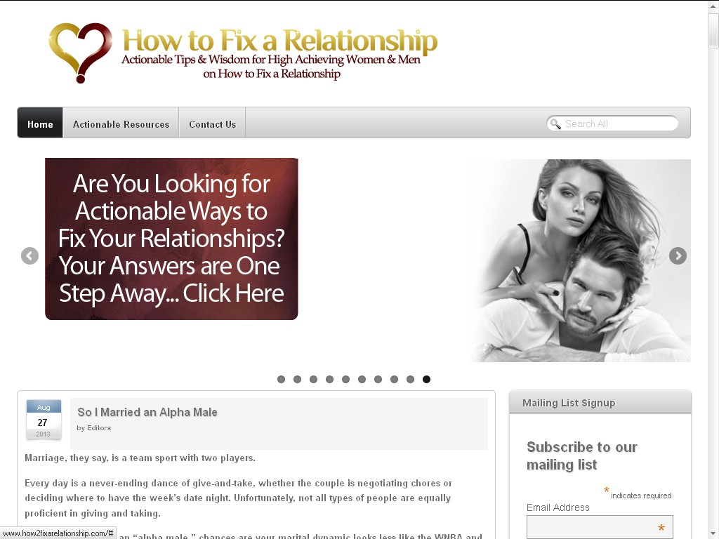 logo for How to Fix a Relationship