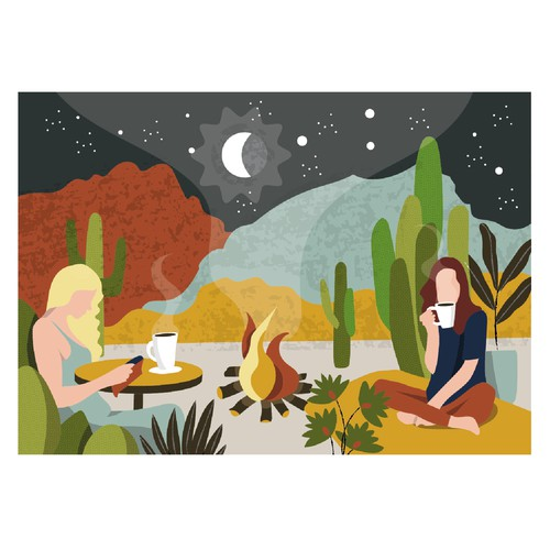 Illustration for Coffee Shop