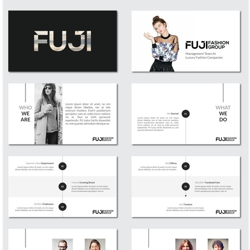 Powerpoint Presentation for FUJI Fashion House