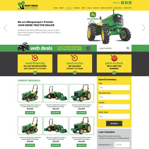 Web Store Site Design