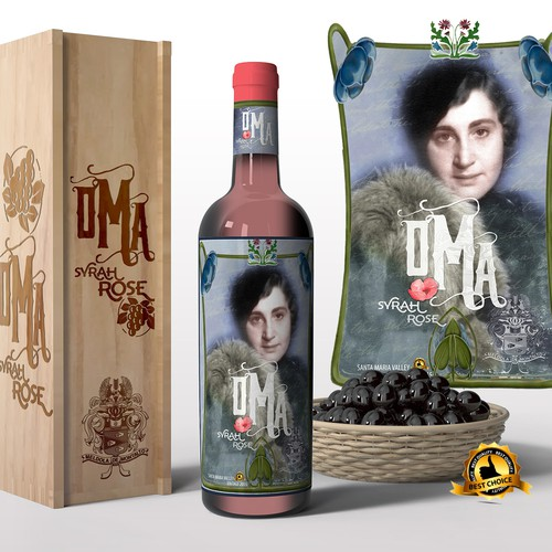 Wine label in the style of the 40`s