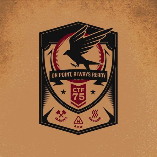 CTF 75 Frisbee Merchandise design