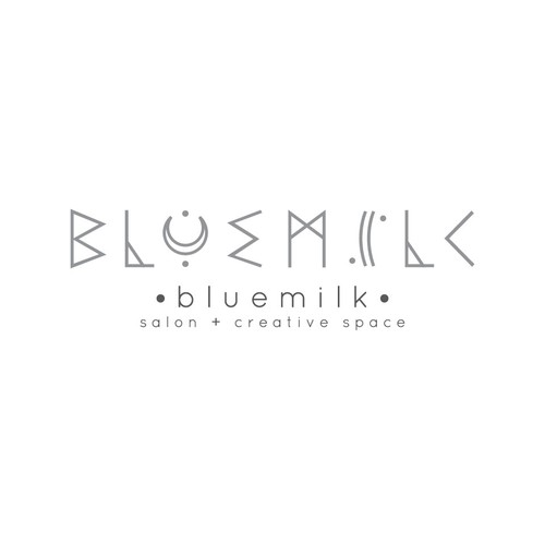 Logo for bluemilk salon