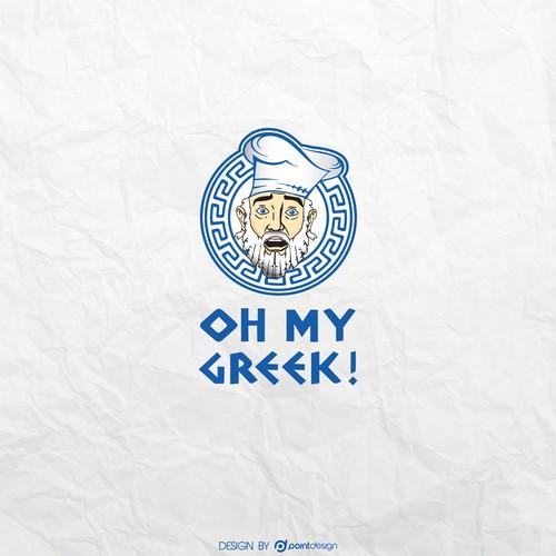 Logo for a greek Take Away-Chain in Switzerland