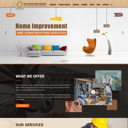 Wordpress theme design for race home improvement