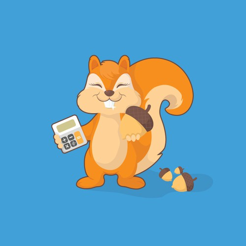 Create a LOVELY (SQUIRREL) CARTOON character to be used as an app icon