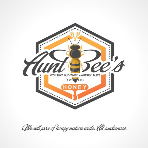 Bold logo concept for honey production