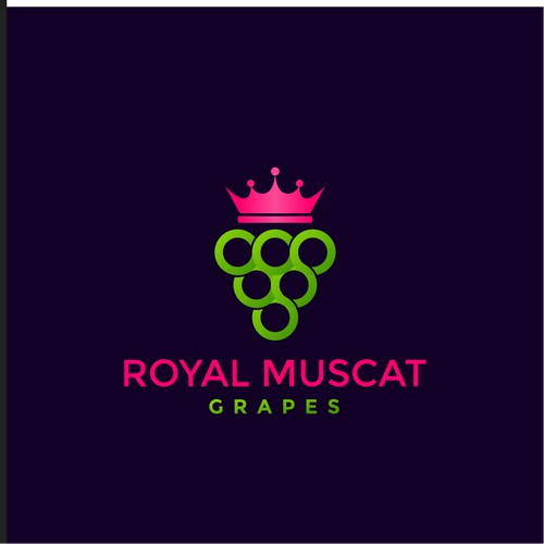 ROYAL MUSCAT GRAPES LOGO DESIGN