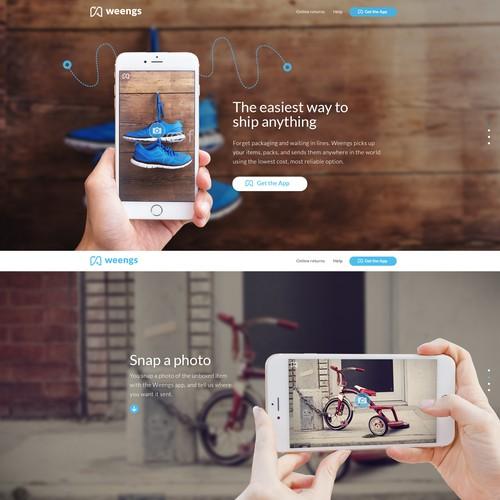 Website design for App