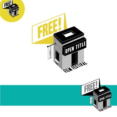 Open Title Film Festival logo design