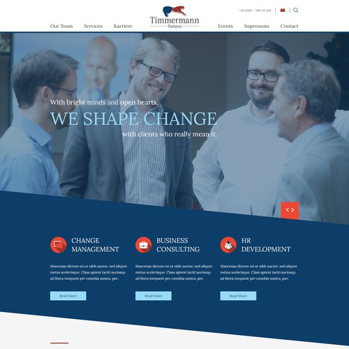 Timmermann Home page design