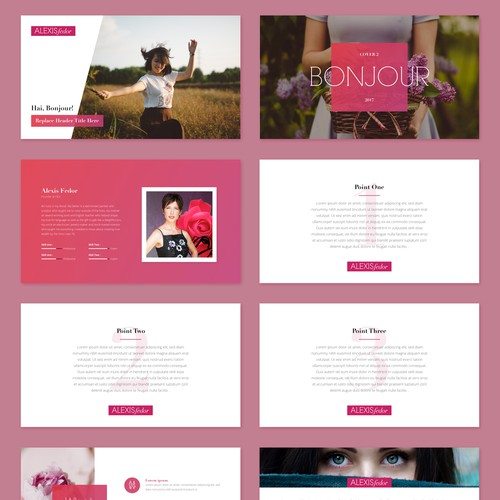Artsy Powerpoint Template Design