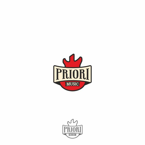Logo concept for Priori Music