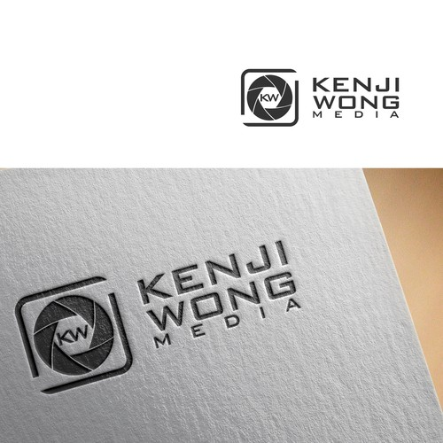 clean,simple logo concept for kenji wong media